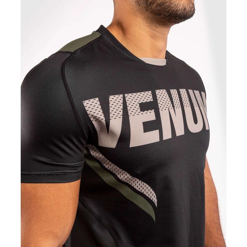 Футболка Venum ONE FC Impact Dry Tech Black/Khaki (02072) фото 5