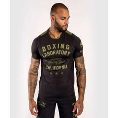 Футболка Venum Boxing Lab Dry Tech Black/Green