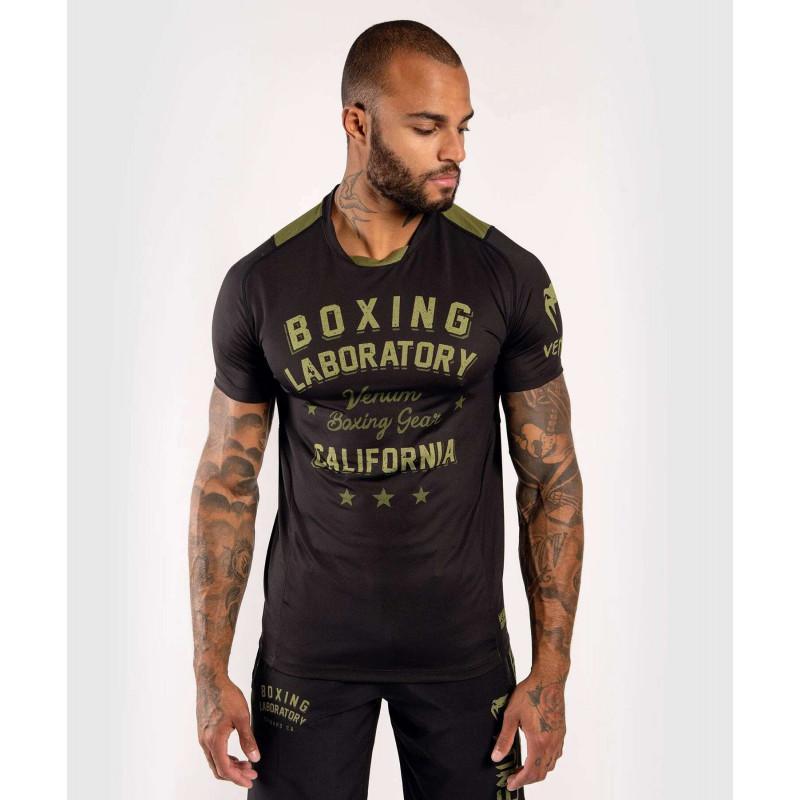Футболка Venum Boxing Lab Dry Tech Black/Green (02052) фото 1