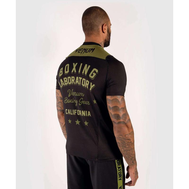 Футболка Venum Boxing Lab Dry Tech Black/Green (02052) фото 4