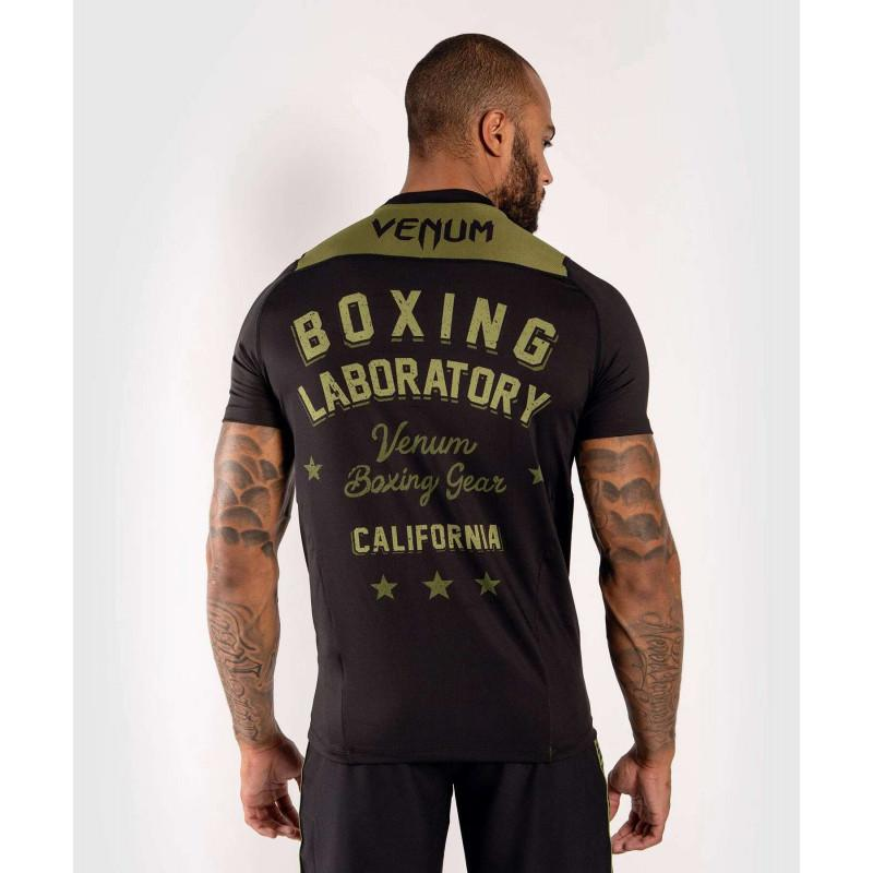 Футболка Venum Boxing Lab Dry Tech Black/Green (02052) фото 2