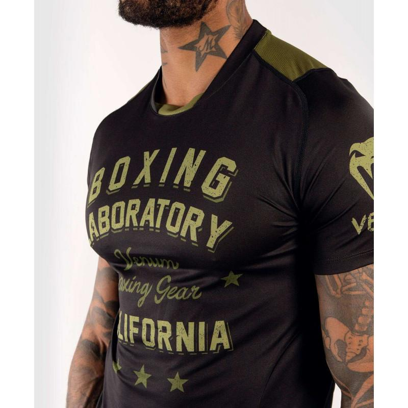 Футболка Venum Boxing Lab Dry Tech Black/Green (02052) фото 5