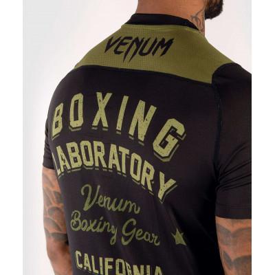 Футболка Venum Boxing Lab Dry Tech Black/Green (02052) фото 6