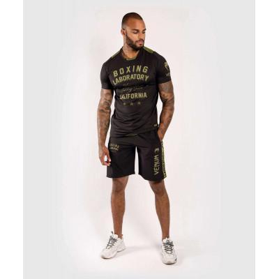 Футболка Venum Boxing Lab Dry Tech Black/Green (02052) фото 7