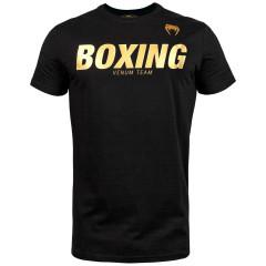 Футболка Venum Boxing VT Черная/Золото