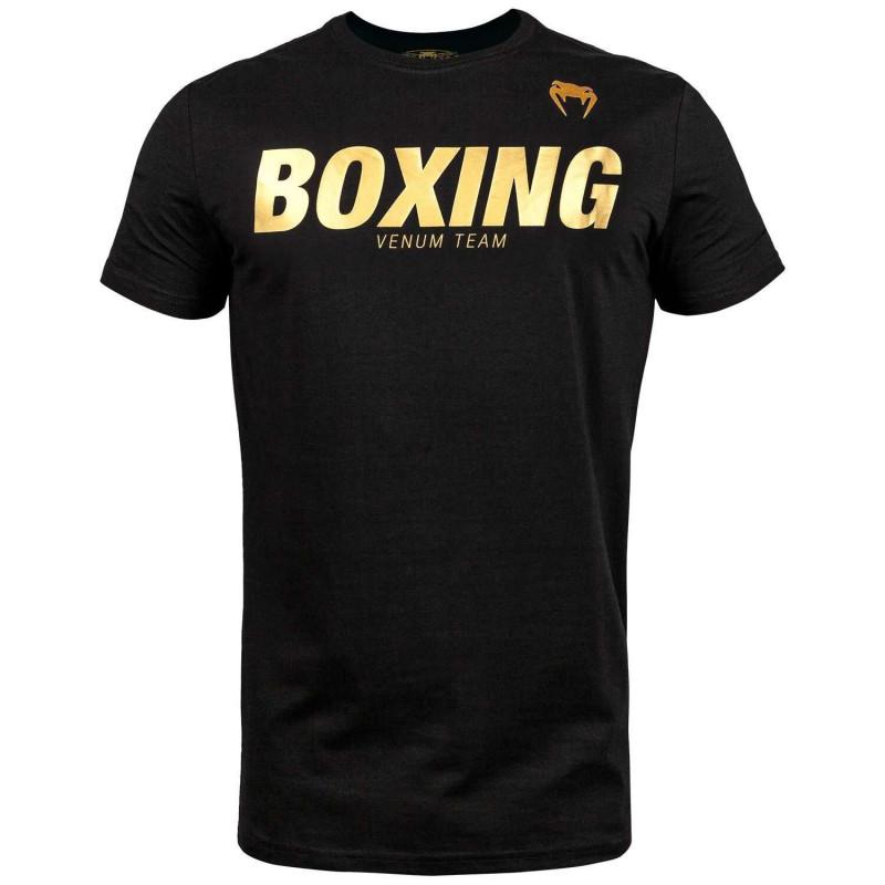Футболка Venum Boxing VT Чорна/Золото (01829) фото 1