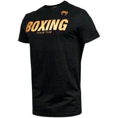 Футболка Venum Boxing VT Чорна/Золото (01829) фото 3