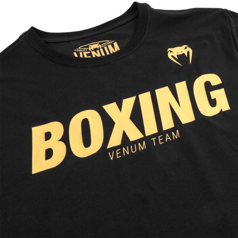 Футболка Venum Boxing VT Чорна/Золото (01829) фото 5