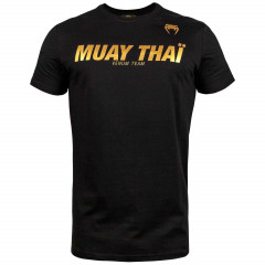 Футболка Venum Muay Thai VT Черная/Золотистый