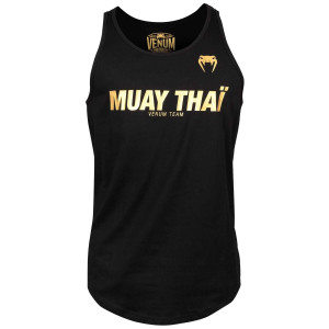 Майка Venum Muay Thai VT Черный/Золотой