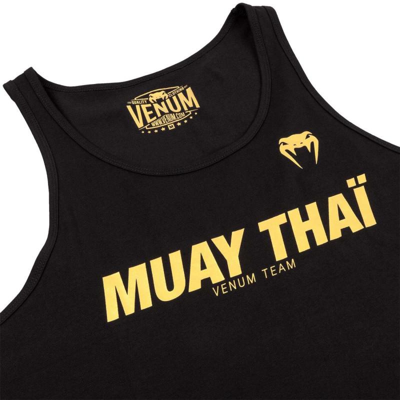Майка Venum Muay Thai VT Чорний/Золотий (01822) фото 4