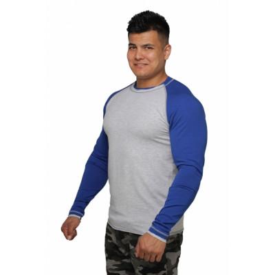 Реглан Long Sleeve BERSERK grey/blue (01265) фото 4