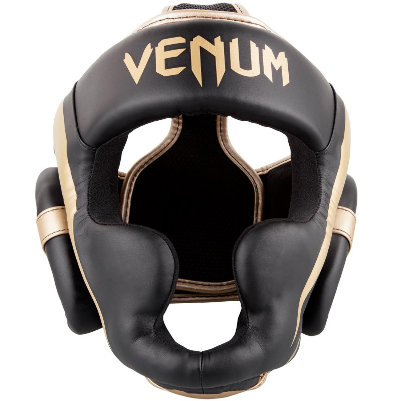 Шлем Venum Elite Headgear Black/Gold (01707) фото 7