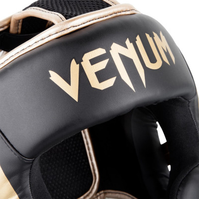 Шлем Venum Elite Headgear Black/Gold (01707) фото 6