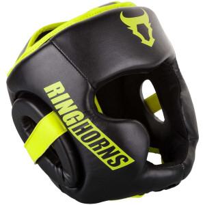 Боксерський Шолом Ringhorns Charger Headgear Чорний/Нео-жовтий