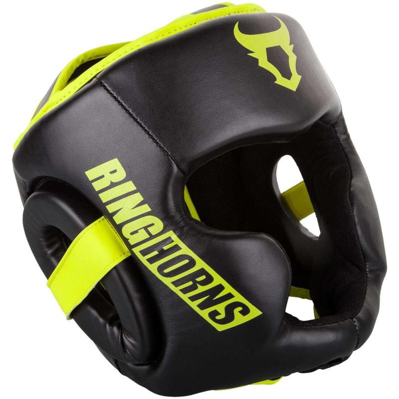 Боксерский Шлем Ringhorns Charger Headgear Черный/Нео-желтый (01874) фото 1