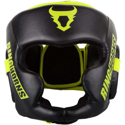 Боксерский Шлем Ringhorns Charger Headgear Черный/Нео-желтый (01874) фото 3