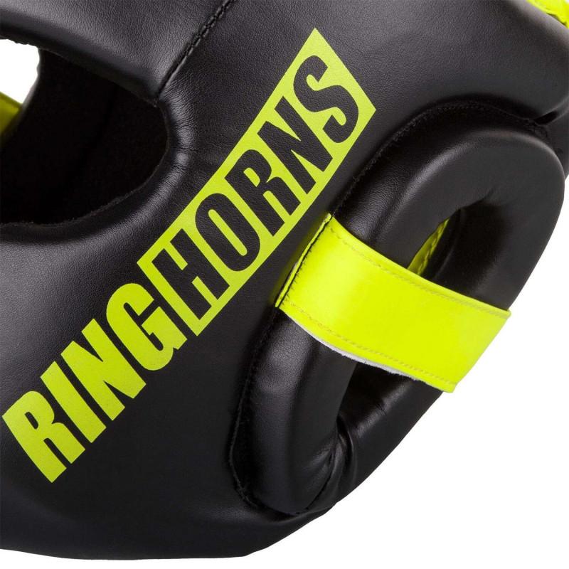 Боксерский Шлем Ringhorns Charger Headgear Черный/Нео-желтый (01874) фото 5