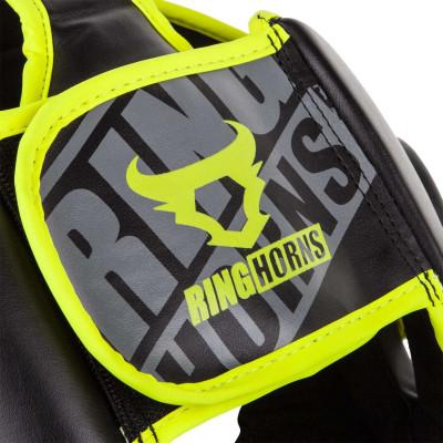 Боксерский Шлем Ringhorns Charger Headgear Черный/Нео-желтый (01874) фото 6