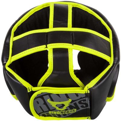 Боксерский Шлем Ringhorns Charger Headgear Черный/Нео-желтый (01874) фото 2