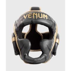 Шлем Venum Elite Boxing Headgear Dark camo/Gold