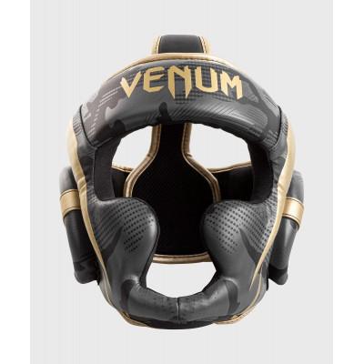 Шлем Venum Elite Boxing Headgear Dark camo/Gold (02003) фото 1