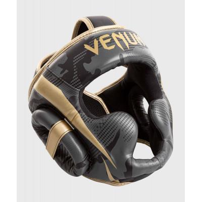 Шлем Venum Elite Boxing Headgear Dark camo/Gold (02003) фото 3