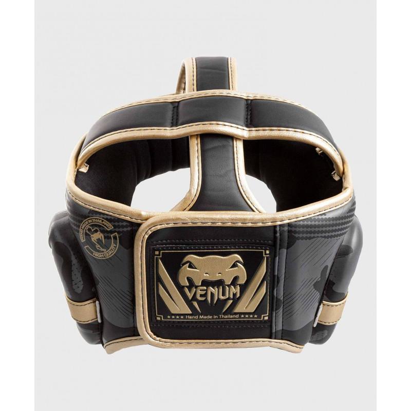 Шлем Venum Elite Boxing Headgear Dark camo/Gold (02003) фото 2