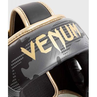 Шлем Venum Elite Boxing Headgear Dark camo/Gold (02003) фото 4