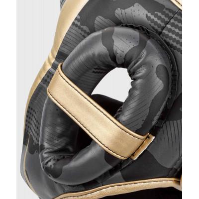 Шлем Venum Elite Boxing Headgear Dark camo/Gold (02003) фото 6