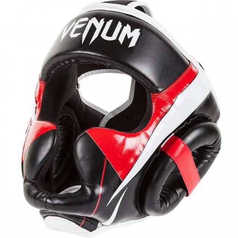 Шлем Venum Elite Headgear Black/Red/Ice (02014) фото 3