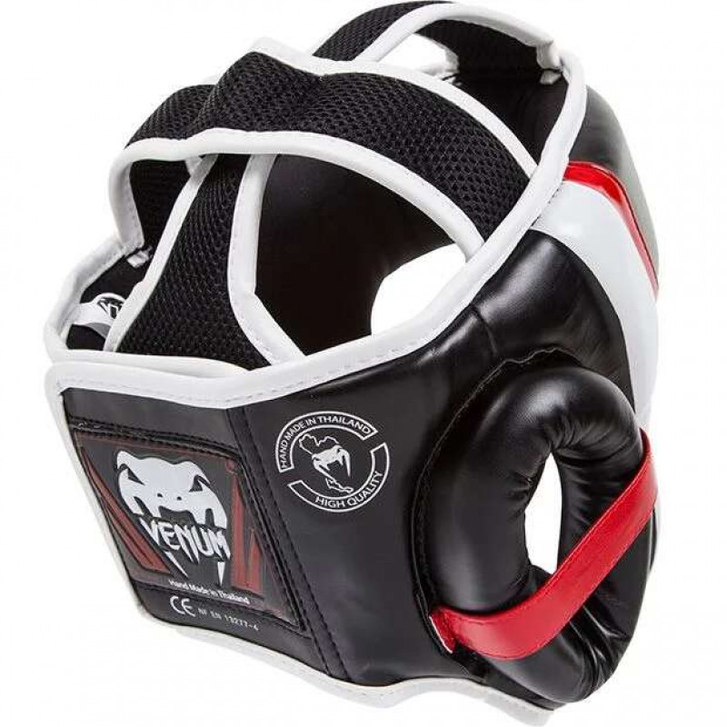 Шлем Venum Elite Headgear Black/Red/Ice (02014) фото 4