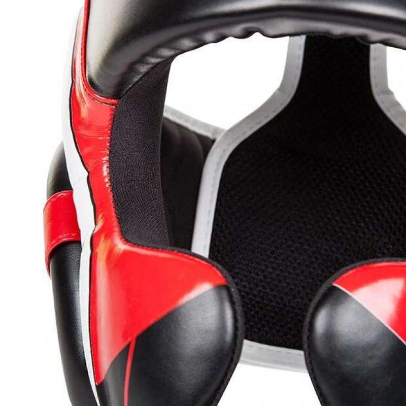 Шлем Venum Elite Headgear Black/Red/Ice (02014) фото 5