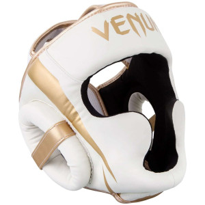 Шлем Venum Elite Headgear White/Gold