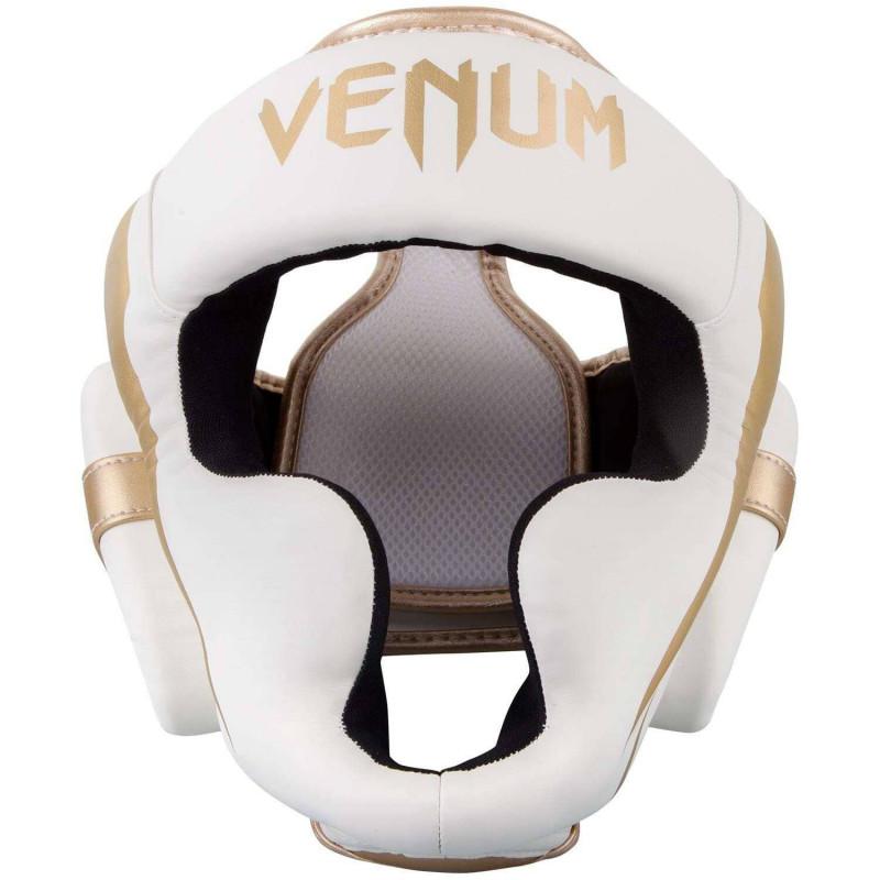Шлем Venum Elite Headgear White/Gold (02015) фото 3