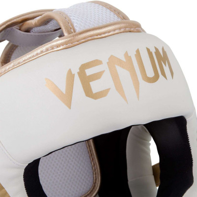 Шлем Venum Elite Headgear White/Gold (02015) фото 4