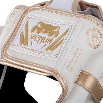 Шлем Venum Elite Headgear White/Gold (02015) фото 5