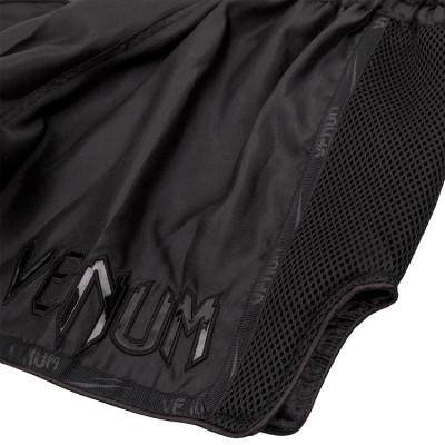 Шорти Venum Giant Muay Thai Shorts Black/Black (01713) фото 4