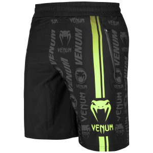 Шорты Venum Logos Training Shorts Black/Neo Yellow
