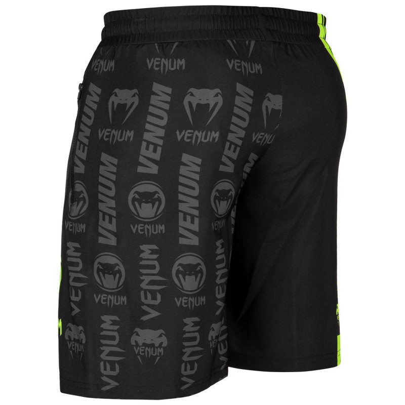 Шорты Venum Logos Training Shorts Black/Neo Yellow (01728) фото 4