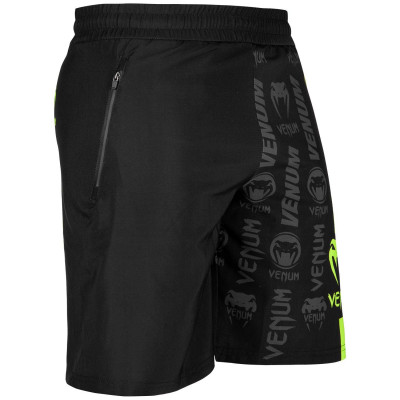 Шорты Venum Logos Training Shorts Black/Neo Yellow (01728) фото 3