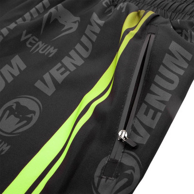 Шорты Venum Logos Training Shorts Black/Neo Yellow (01728) фото 5
