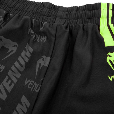 Шорты Venum Logos Training Shorts Black/Neo Yellow (01728) фото 7