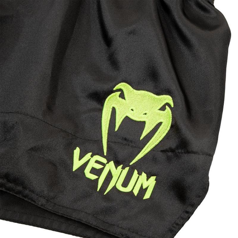 Шорты Venum Muay Thai Shorts Classic B/Neo Yellow (01730) фото 3