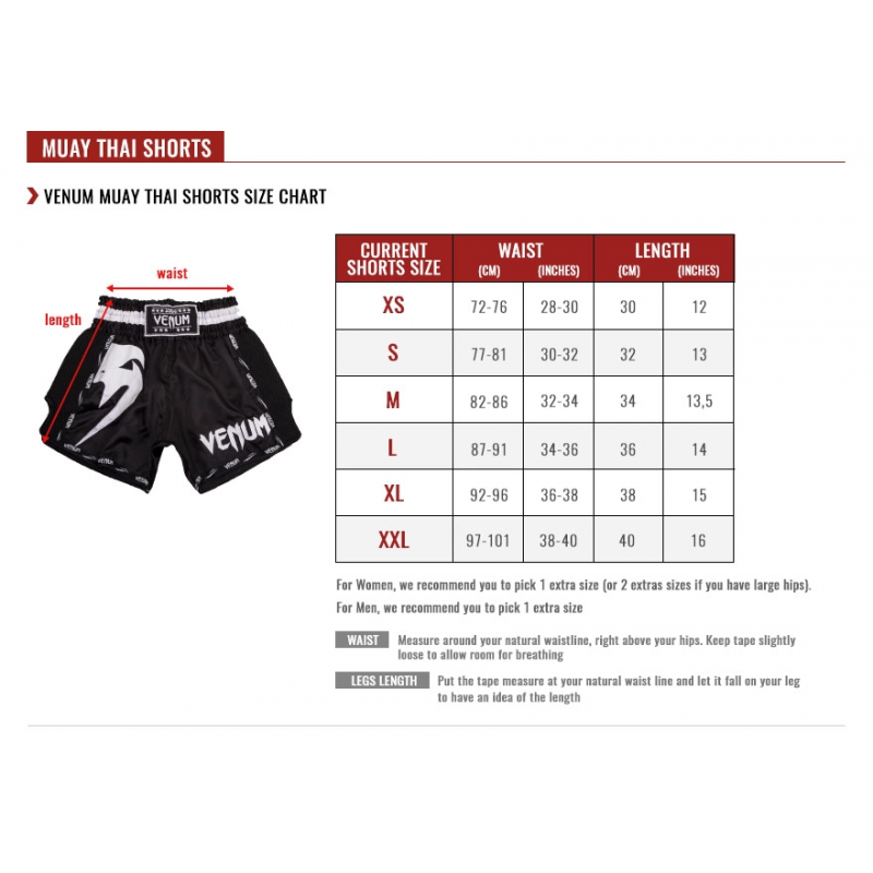 Шорты Venum Giant Muay Thai Shorts Black/Red (01715) фото 5
