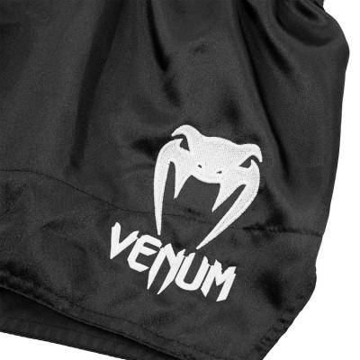 Шорты Venum Muay Thai Shorts Classic Black/White (01732) фото 5