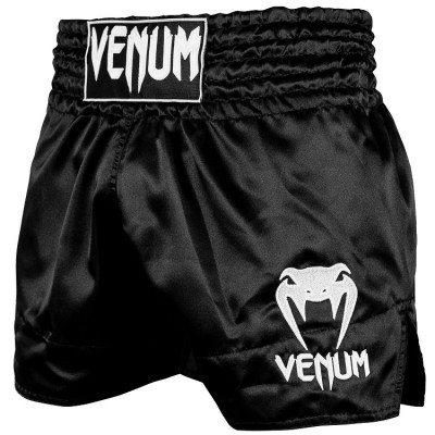 Шорты Venum Muay Thai Shorts Classic Black/White (01732) фото 1