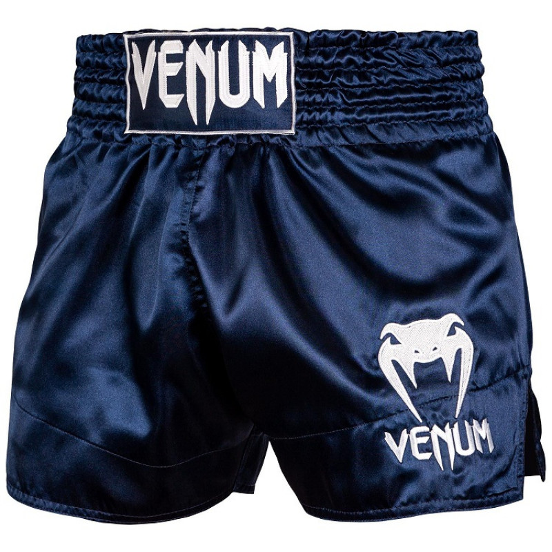 Шорты Venum Muay Thai Shorts Classic Blue/White (01734) фото 1