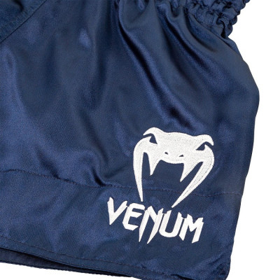 Шорты Venum Muay Thai Shorts Classic Blue/White (01734) фото 3