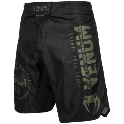 Шорты Venum Signature Fightshorts Black/Khaki (01738) фото 1